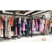 抖音同款一字领碎花连衣裙Lab韩国品牌折扣尾货女装走份多种风格新款组货包