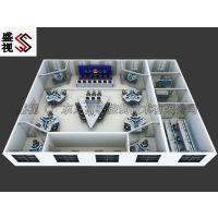 福建国家电网调度控制中心控制台 操作台 调度指挥桌 指挥台 定制效果图厂家