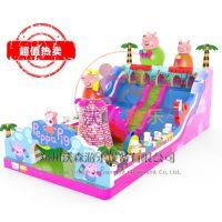江西赣州广场大型充气大滑梯,新款儿童气垫蹦蹦床专业直营厂家