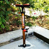 自行车打气筒 高压打气筒耐用电动车打气筒多功能气管带气压表