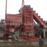 制造中大型挖沙船 湖北沙市订制300方链斗式挖沙船安装调试现场