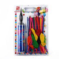 儿童玩具长条气球打气筒套装 百变魔术彩色生日礼物气球厂家直销