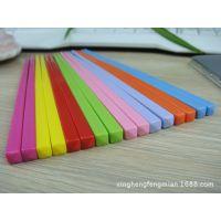 工厂批发糖果色密胺儿童单筷子 彩色筷子裸筷餐具六一