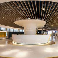 供应合金铝包柱 商场地铁站艺术吊顶弧形铝方通定制