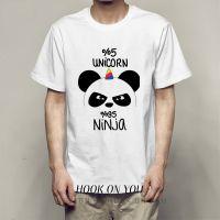 panda 熊猫创意印花系列Tee卡通潮男oversize可爱时尚莫代尔打底T