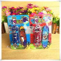 双色1+1迷你手指滑板车带投影灯桌游/摆件益智玩具创意儿童礼物