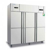 冰立方商用冰柜RF6 COOLMES六门双温冻藏冰箱 美厨不锈钢直冷冷柜