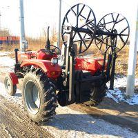 500拖拉机头加绞磨机,拖拉机带牵引机批发;拖拉机安装绞磨机,组立杆塔托运电杆四轮绞磨机 洪涛
