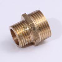 厂家批发 6转4双外丝接头 铜变径对丝 管件转接头 一件代发