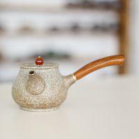 手工茶壶 仿古侧把壶 粗陶窑变茶具 陶瓷功夫茶具套装 新品特价