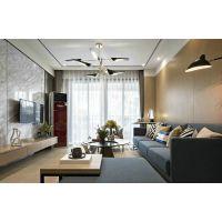 88㎡现代简约风格二居室装修设计,木纹的休闲与蓝色的高雅,融合得恰到好处!
