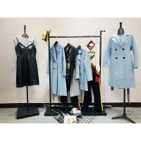 上海时装品牌女装折扣婉甸18秋冬高端剪标货源库存走份批发市场