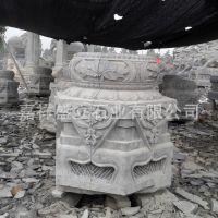 厂家直销各种做旧柱墩石墩 仿古浮雕柱基柱顶石 大量批发