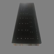 生产厂家定做高精度00级打孔大理石平台 大理石平板打孔 镶嵌不锈钢黄铜螺纹套