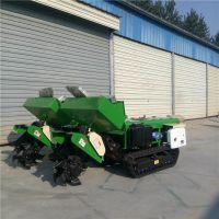 富兴果园施肥埋肥机 橡胶履带式回填旋耕机 自走式开沟施肥机厂家直销