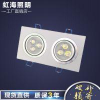 厂家直销LED天花灯3w5w7w9w12w射灯方形三眼三头斗豆胆灯批发包邮