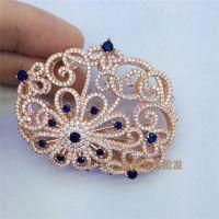 珍珠饰品配件微镶满钻褛空毛衣链流苏配件镂