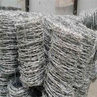 园林防护铁刺 防攀爬铁丝网 刺绳厂家