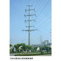 福州市益瑞钢杆厂家66kv电力钢杆 转角钢杆 直线钢杆 输电钢杆 钢桩基础 基业