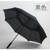 文竹厂价直销高尔夫超大雨伞双层碰击布防风伞可定制logo八骨加粗纤维材质商务广告伞