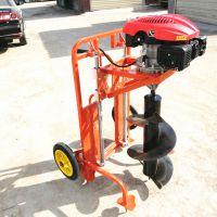 【汽油植树挖坑机园林汽油挖坑机高效大直径挖坑机】