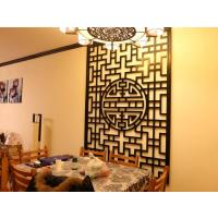 镂空板加工定制优雅棕色中式风格餐厅隔断装修装饰通花板