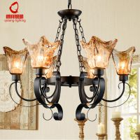 美式铁艺吊灯简欧卧室灯复古客厅楼梯餐厅吊灯创意个性吸顶灯灯具