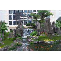 别墅花园假山鱼池设计,景观工程使建筑、庭院有机结合美景浑然一体