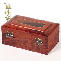 红木中式实木质印章盒 红酸枝首饰盒收纳盒小木盒子装饰盒