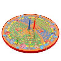 磁力数字时钟迷宫游戏学习儿童桌面走珠玩具木质运笔磁性