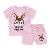 童装夏季短袖t恤两件套童套装 韩版全棉卡通儿童宝宝地摊货源批发