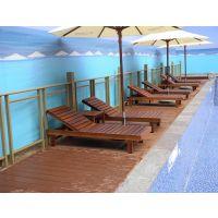 供应温泉度假旅游区沙滩躺椅 户外实木沙滩椅