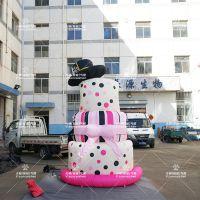 3.5米仿真奶油蛋糕气模游乐场装饰充气仿真蛋糕商场美陈装饰蛋糕