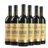 张裕优选级金标赤霞珠干红葡萄酒 国产烟台张裕红酒750ml*6