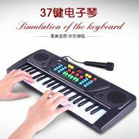 儿童多功能早教电动钢琴玩具 女孩仿真乐器37键电子琴玩具批发