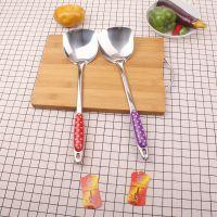 彩色长柄煎锅加厚不锈钢烹饪炒菜铲子 百货批发厨房工具 328大促