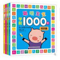 4本 幼儿识字书 聪明宝宝学前1000字 幼儿园学前班看图识字教材幼