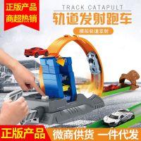 鹏乐宝儿童惯性仿真货柜车军事警察系列汽车模型套装发射轨道玩具