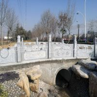 厂家直销石质栏杆 天然石拱桥栏杆 河道桥梁栏杆定制