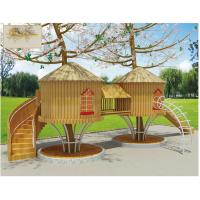 大型户外陆地游乐设备木制组合儿童滑梯欢乐起航木屋游玩设施