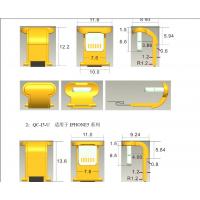 苹果无线充U型充电公头5V-正极+负极3P双面I5I6-6S弯头60mm背夹-创粤