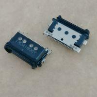 华为Mate9防水插座 TYPE-C 16P防水母座 沉板3.6 单排贴片SMT 防水等级IP67级