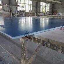 厂家供应树脂板河南德辰定制玻璃钢10mm蓝色纤维盖板平板