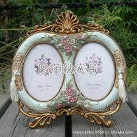 5吋组合双框一件起批欧式情侣复古树脂相框相架摆台创意结婚礼物