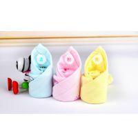 纱布印花方巾 纯棉素色格子印花纱布小方巾 儿童婴儿纯色口水巾