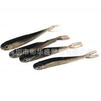 超仿真叉尾鱼 优质仿生鱼饵 自然灰色假饵路亚饵软虫泥鳅厂家直销