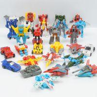 变形金刚机器人玩具 儿童早教益智 迷你手动拼装变形玩具车