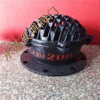 温州厂家供应 水泵铸铁底阀 H42X-10 DN200 国标莲蓬头升降式底阀 H42X-10C