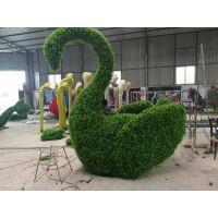 新春快乐主题新年绿雕造型雕塑 湖南贵州川南雕塑厂家