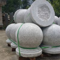长期供应芝麻灰挡车石球 花岗岩 福建灰色石材